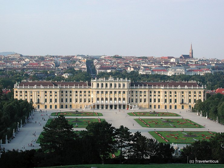 View of Schloss Schönbrunn taken from Gloriette
