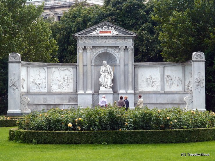 Monument to Franz Grillparzer at Volksgarten in Vienna