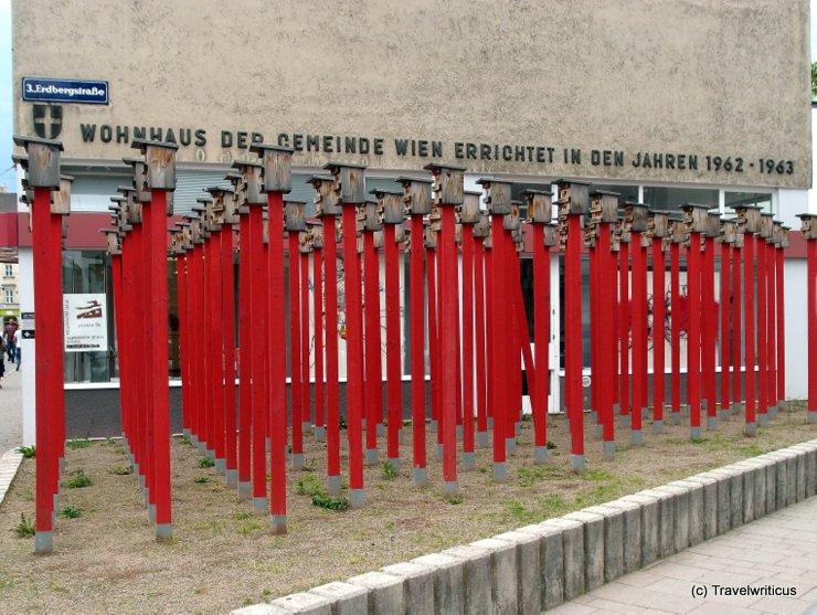 Installation 'Warten auf Vögel IV' in Vienna, Austria