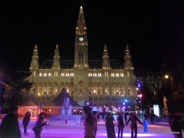 Skating rink at the city hall of Vienna