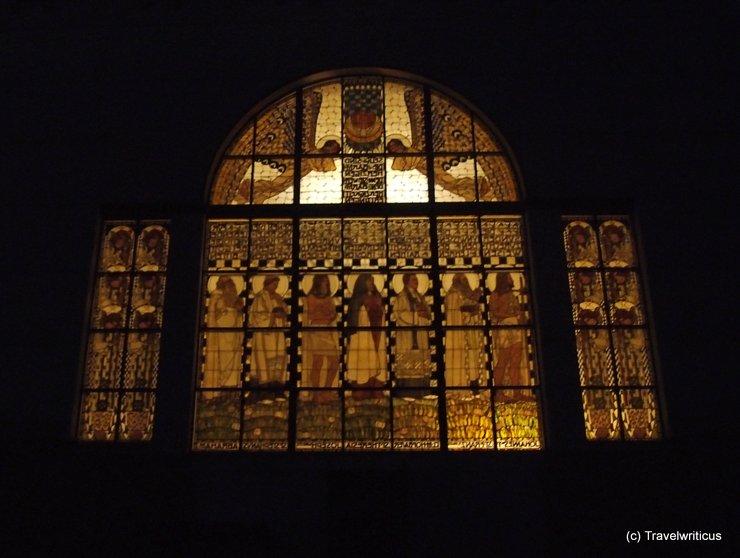 Window at the Church of Steinhof in Vienna, Austria