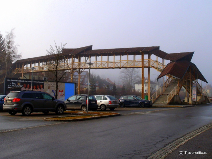 Pedestrian bridge at the railway station of Voitsberg, Austria