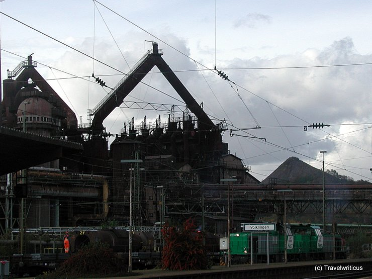 View of the iron works taken from the railway station
