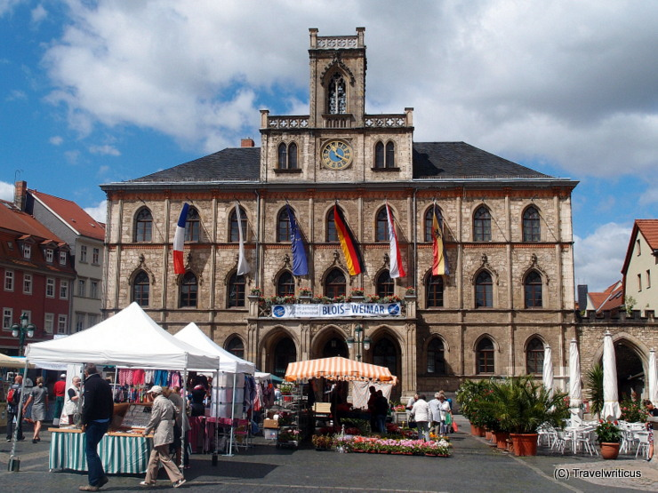 City hall of Weimar in Thuringia, Germany