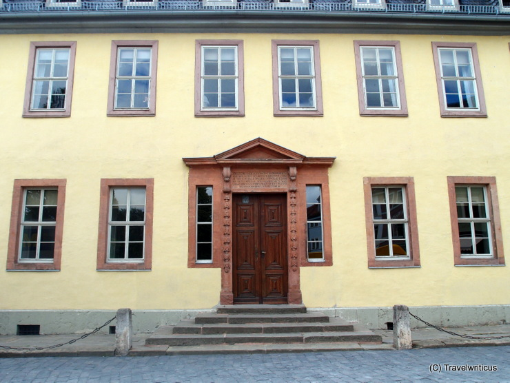 Former main entrance of Goethe's home in Weimar, Germany