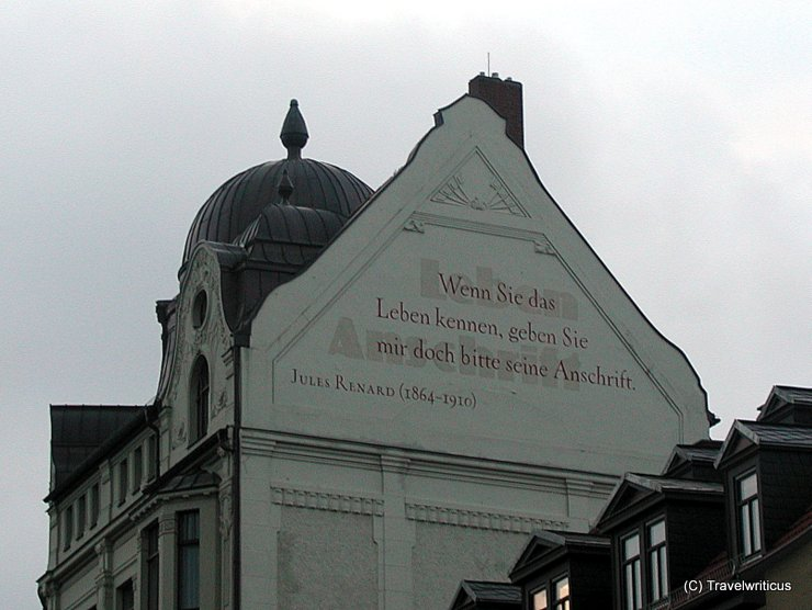 Quote by Jules Renard at a gable in Weimar