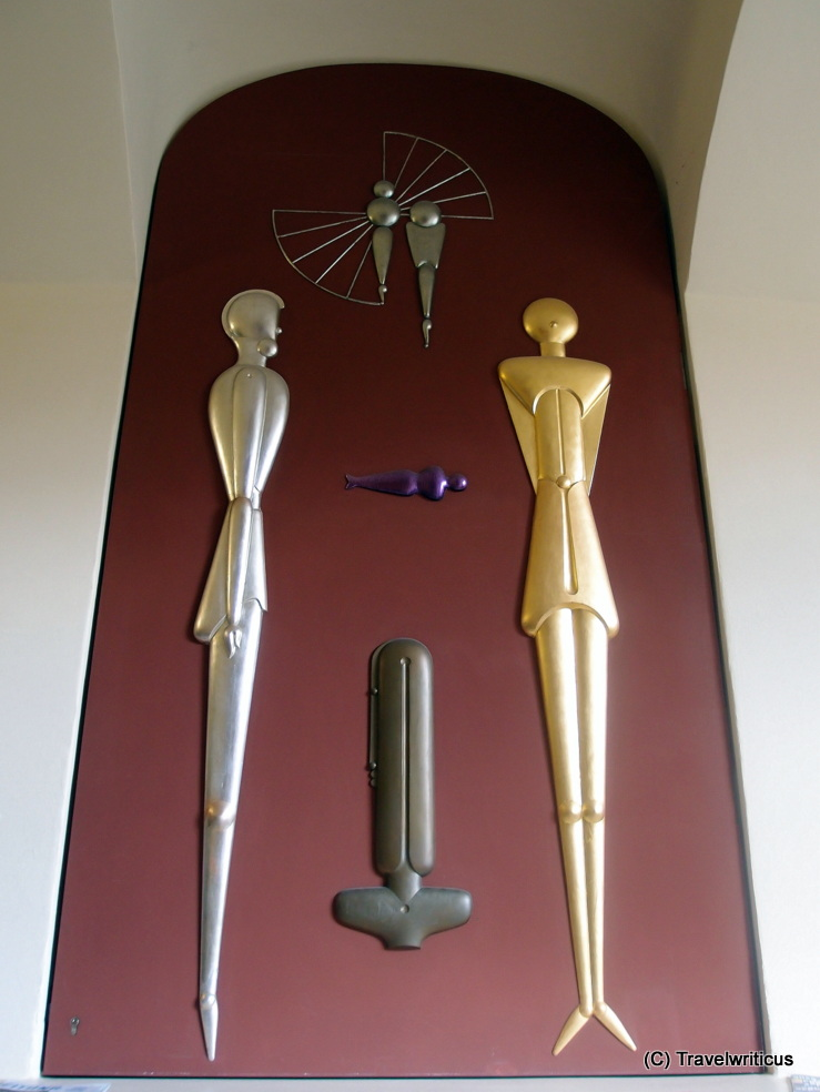Reconstructed artwork of Oskar Schlemmer at the Van de Velde Bulding in Weimar, Germany
