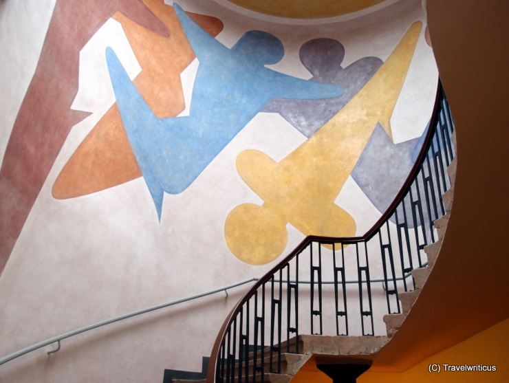 Reconstructed mural of Oskar Schlemmer at the Van de Velde Bulding in Weimar, Germany