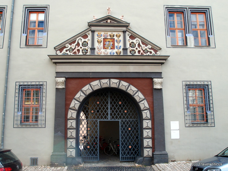 Renaissance portal at the Red Castle (Rotes Schloss) of Weimar, Germany