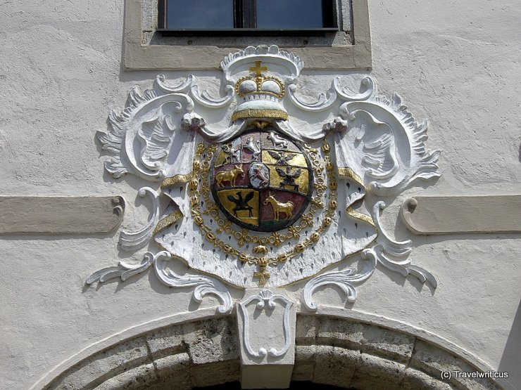 Heraldic device of the Principality of Auersperg in Wels, Austria