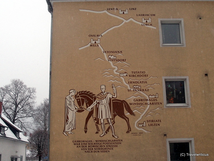 Roman places along the Via Norica at a building in Windischgarsten, Austria