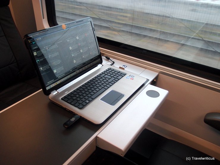 Notebook on a Railjet