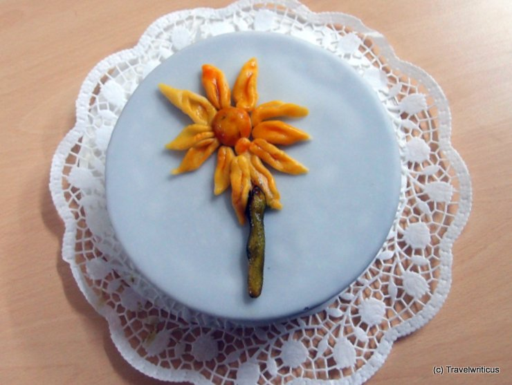 Decorating a cake in Zwentendorf, Austria