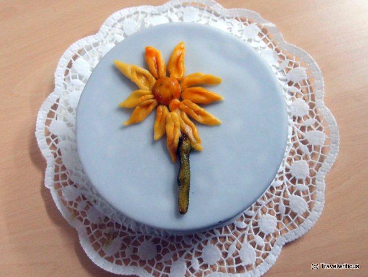 Decorating a cake in Zwentendorf, Austria